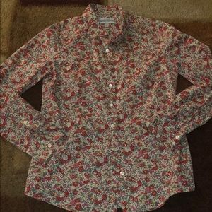 J.Crew Perfect Floral Button Down Shirt